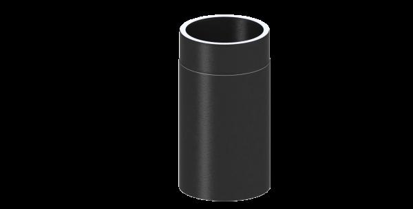Ofenrohr grau Rauchrohr mit 750 mm L/änge und 130mm Durchmesser Kaminrohr