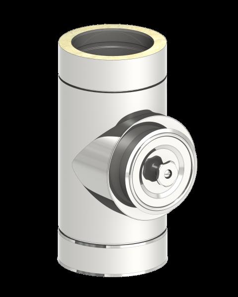 Schornstein Reinigungselement rund (Deckel für Öl und Gas), doppelwandig